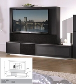 VIG Furniture VGMUVR3-NEO Verona - VR3 Black Made in Italy TV Entertainment System