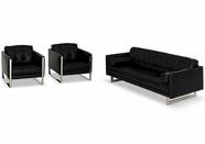 Vig Vgni814-Blk Inspiration-Modern Black Sofa Set
