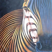 VIG Furniture VGSHD-ADC7197 ADC7197 - Modern Zebra Oil painting