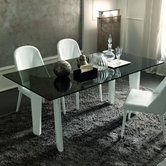 Vig Vgsmarmonia Armonia-Modern Glass Dining Table-Chair Dining Set