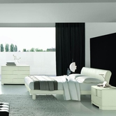VIG Furniture VGSMTRENDY-3 Trendy White Ash Bed - Made in Italy-Dresser-Mirror Bedroom Set