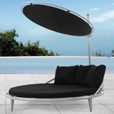VIG Furniture VGSNBelize Belize- steel rattan bed with sunroof
