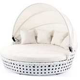 VIG Furniture VGSNCAYMEN Caymen - Modern White Wicker Round Bed