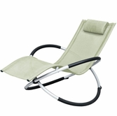 VIG Furniture VGSNLARGO-BGE Largo - Modern Beige Metal Lounging Chair