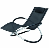 VIG Furniture VGSNLARGO Largo - Modern Black Metal Lounging Chair