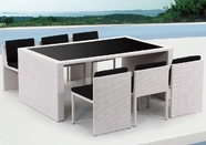 VIG Furniture VGSNTAURUS Taurus - Table and 6 Chair Patio Dining Set