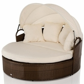 VIG Furniture VGUBCOVE Cove - Round Patio Day Bed With Retractable Sun Cover