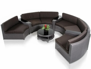 VIG Furniture VGUBLAGOON Shore - Rounded Sectional with Built-in Ledge, and Coffee Table Patio Set
