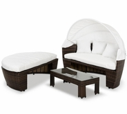 VIG Furniture VGUBSUNNY Sunny - Round Patio Day Bed With Retractable Sun Cover