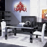 VIG-Furniture VGUN8930-NAA022 Armani Butterfly-Extensional-Dining-AA022-Chair Dining Set