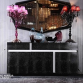 VIG Furniture VGUNAA619 AA619 - Black Crocodile Lacquer Buffet