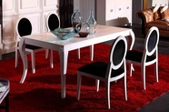 VIG Furniture VGUNAA822-180-030-1 Armani White Lacquer-Dining-Table-Chair Dining Set