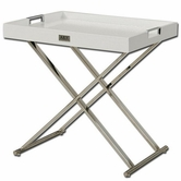 VIG Furniture VGUNAA868-50-W AX White Tray Table