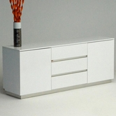 VIG Furniture VGUNAC636-180 AC636-180 White Crocodile Lacquer Buffet