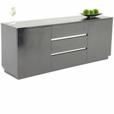 VIG Furniture VGUNAC636-180-BLK Modern Black Crocodile Lacquer Buffet - AC636-180