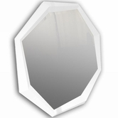 VIG Furniture VGUNAK423-120 AK423-120 - Modern White Crocodile Lacquer Mirror