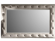 VIG Furniture VGUNAK425-123 White Leather Tufted Mirror Fame