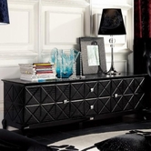 VIG Furniture VGUNAK538-180 Black Crocodile Lacquer Entertainment Center AK538-180