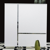 VIG Furniture VGUNAK714-120 AK714-120 White Lacquer Tall Buffet