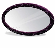 VIG Furniture VGUNAW428-140-BLK Armani Black Fabric Oval Mirror