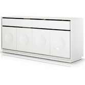 VIG Furniture VGUNCC1308-180-WHT #NAME Modern White Crocodile Lacquer Buffet