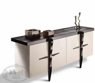 VIG Furniture VGUNRC106-200 RC106-200 - Transitional Glossy Champagne Crocodile Lacquer Buffet
