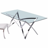 VIG Furniture VGVCT1201 1201 - Modern Glass Dining Table