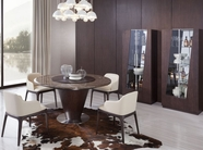 Vig Vgwce550T-537Y Margot Modern-Brown-Oak-Dining-Table-Chair Dining Set