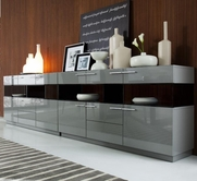 VIG Furniture VGWCEGOB122 Daytona - Modern Grey Buffet B122