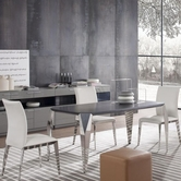 Vig Vgwcextreme Extreme Wenge-Dining-Table-Chair Dining Set