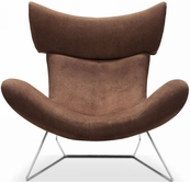VIG Furniture VGWCFM108 FM108 - Modern Dark Brown Fabric Leisure Chair
