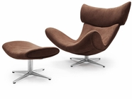 VIG Furniture VGWCFM109 Ostia - Modern Dark Brown Fabric Lounge Chair