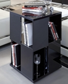 VIG Furniture VGWCGA132-BLK Modern Black Lacquer Magazine Rack