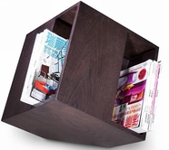 Vig Vgwcm005T Book-Modern Oak Brown Magazine Rack