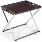 VIG Furniture VGWCP506B P506B - Modern Brown Oak Side Table