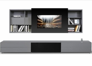 VIG Furniture VGWCSMARTBASE-LARGE Smartbase - Modern iPhone or iPad Dock Ready Glass Entertainment Center