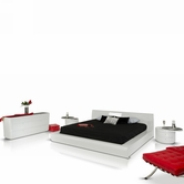 VIG Furniture VGWCSYMPHONY-DRS-MR Symphony Contemporary-White-Lacquer-Bed-Dresser-Mirror Bedroom Set