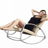 VIG Furniture VGYIK02 Divani Casa K02 - Modern Leather Rocking Leisure Chair