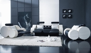 VIG Furniture VGYIT17 T17 Contemporary Black and White Sofa recliners