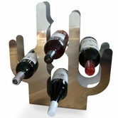 Vig Wf-0202 Contemporary Stainless Wine Rack