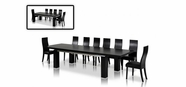 Vig Vggu-Maxi-Escapeblk Maxi-Table-Escape-Chair Black Oak Dining Set