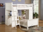 White Finish Loft Bed - Acme 10970