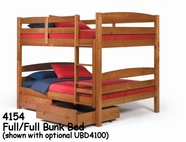 Woodcrest Arched Full or Full Bunk Bed 4154