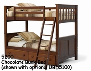 Woodcrest Chocolate Mission Panel Bunk Bed 5200