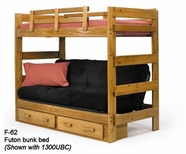 Woodcrest F62  Futon Bunk Bed