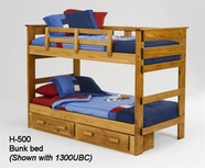Woodcrest H500 2 x 6 Tall Bunk Bed
