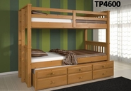 Woodcrest PineRidge Triplex Chocolate Bunk Bed TP4600