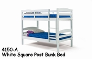 Woodcrest PineRidge White Collection Square Post Bunk Bed 4150