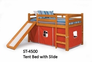 Woodcrest ST-4500 Slide/Tent Bed with Slat Pack - Pink