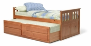 Woodcrest TB602 Twin Single Bed with Trundle